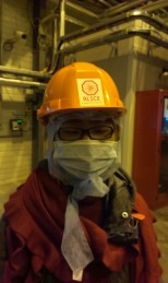 Joon getting ready to go down to the ALICE experiment, 60 meters below ground